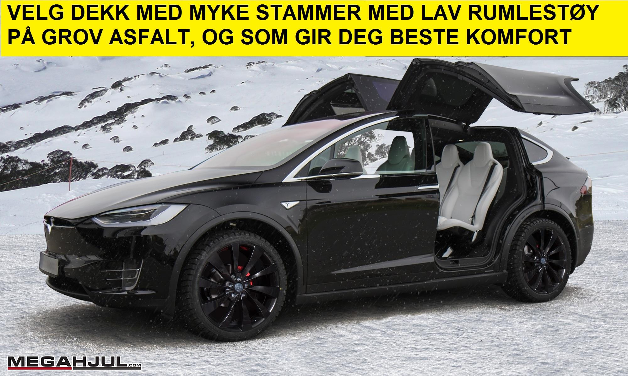 Tesla model X felger og sommerdekk anbefalinger